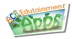 ACE Edutainment Apps Inc Logo. Spelling games for kids.